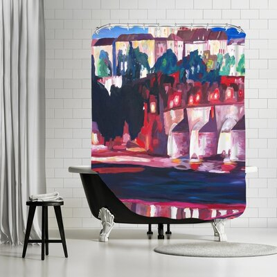 Markus Bleichner Hitchens Prague Hradschin with Charles Bridge Shower Curtain
