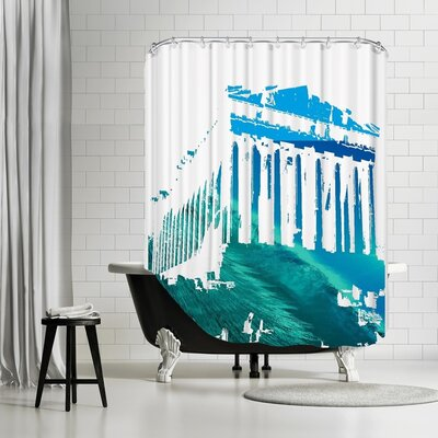 Ikonolexi Acropolis 3 Shower Curtain