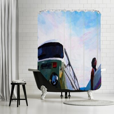 Markus Bleichner Villalon The Surf Bus Shower Curtain