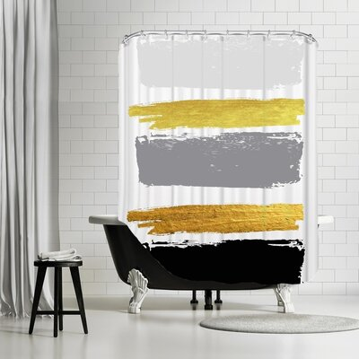 Ikonolexi Brushes 2 Shower Curtain