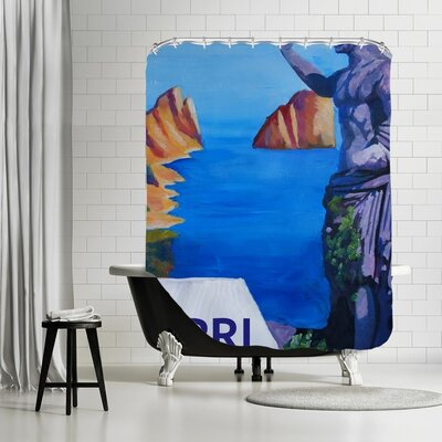Markus Bleichner Belk Capri with Ancient Roman Empire Statue Shower Curtain