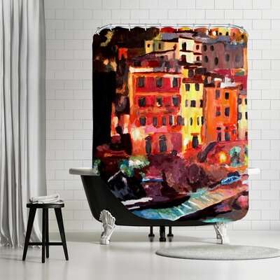 Markus Bleichner Leech Magic Cinque Terre Night in Riomaggiore Shower Curtain