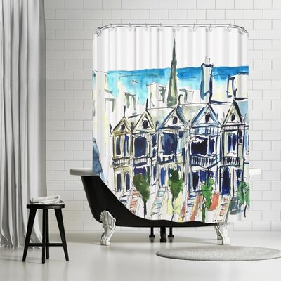 Markus Bleichner Akridge San Francisco Victorian Houses Shower Curtain