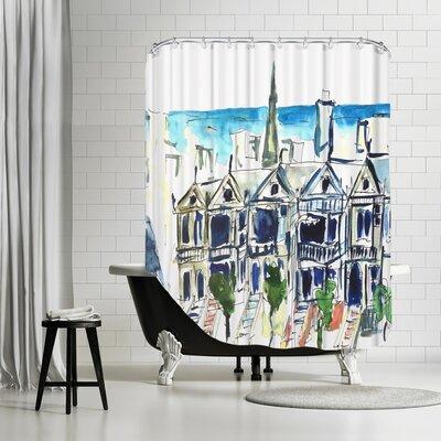 Markus Bleichner Akridge San Francisco Victorian Houses Shower Curtain