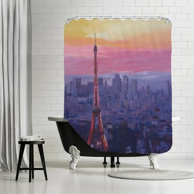 Markus Bleichner Reichert Paris Eiffel at Dusk Shower Curtain