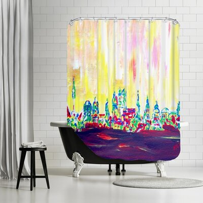 Markus Bleichner Mulvey Muc Skyline in Neon Hell Shower Curtain