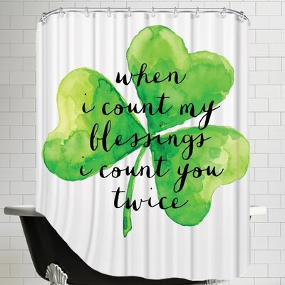 When I Count My Blessings Shower Curtain