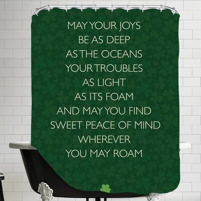 Brett Wilson May Your Joys Shower Curtain