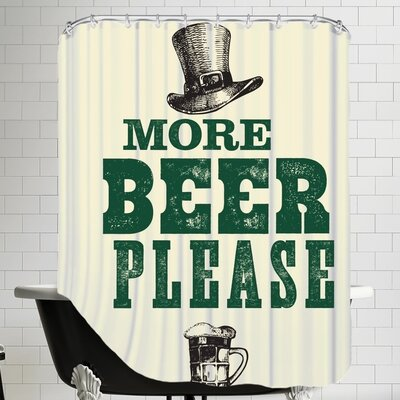 More Beer Please Shower Curtain