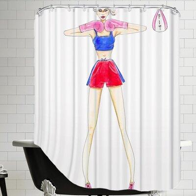 Alison B Boxing Gym Shower Curtain