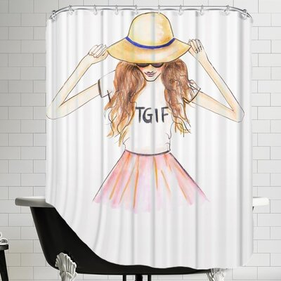 Alison B TGIF Shower Curtain