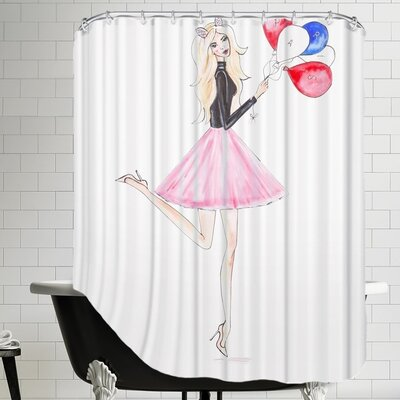 Alison B Paris Balloons Shower Curtain