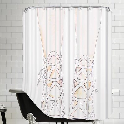 Alison B Shoe Shower Curtain