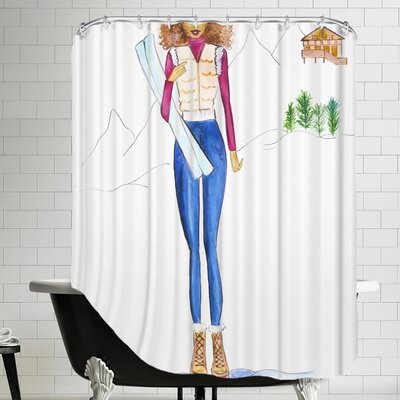 Alison B Ski Final Shower Curtain
