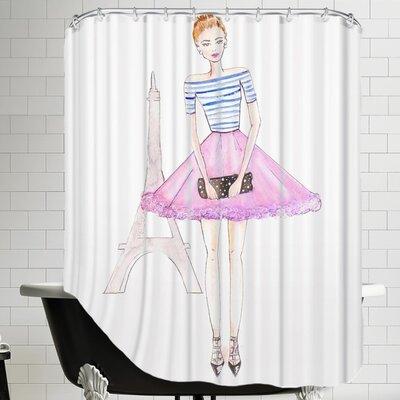 Alison B Paris Shower Curtain