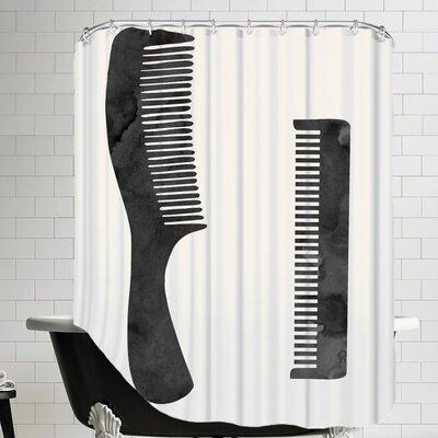 Grossular Combs Shower Curtain