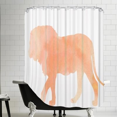 Grossular Coral Lion Shower Curtain