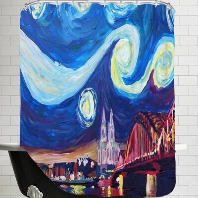 Markus Bleichner Starry Night in Cologne Shower Curtain