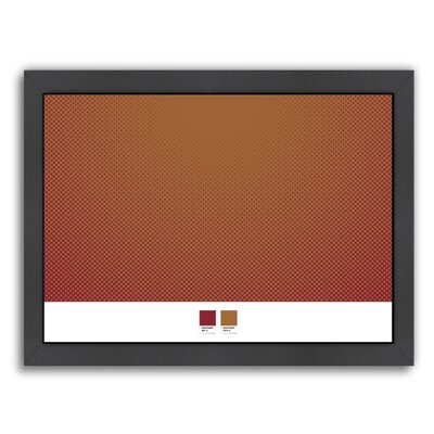 Brown Circles 2 by Armand Framed Graphic Art Size: 10.5
