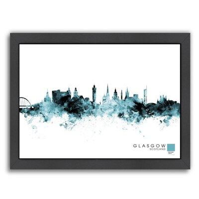 Glasgow by Michael Tompsett Framed Graphic Art Size: 10.5
