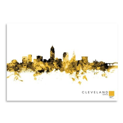 Cleveland by Michael Tompsett Graphic Art Size: 11
