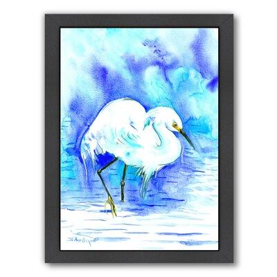 'Heron 4' by Suren Nersisyan Framed Painting Print Size: 12.5