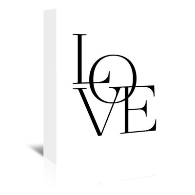 'Modern Love' by Amy Brinkman Textual Art on Wrapped Canvas Size: 14
