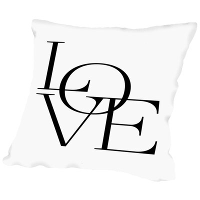 Modern Love Throw Pillow Size: 18