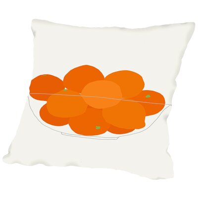 Bowl of Oranges Throw Pillow Size: 14