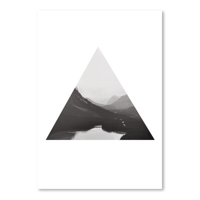 Mountain Bw Triangle by The Glass Mountain Graphic Art Size: 24