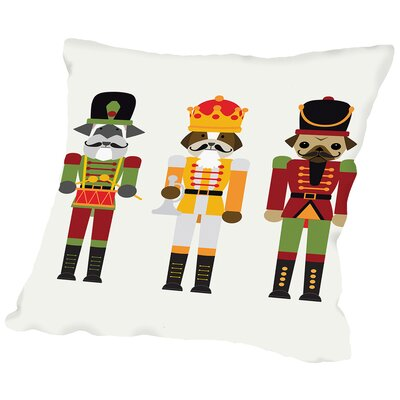 Nutcracker Dogs Throw Pillow Size: 16 H x 16 W x 2 D