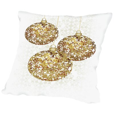 Lace Golden Ornaments Throw Pillow Size: 14 H x 14 W x 2 D