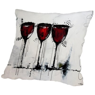 Vino 3 Throw Pillow Size: 18 H x 18 W x 2 D