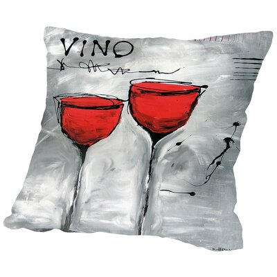 Vino 2 Throw Pillow Size: 14 H x 14 W x 2 D