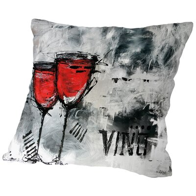 Vino 8 Throw Pillow Size: 16 H x 16 W x 2 D