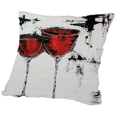 Vino 110 Throw Pillow Size: 20 H x 20 W x 2 D