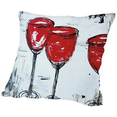 Vino 33 Throw Pillow Size: 16 H x 16 W x 2 D