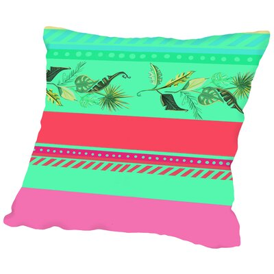 PalmStripes CaraKozik Throw Pillow Size: 18 H x 18 W x 2 D