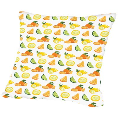 SangriaFruit CaraKozik Throw Pillow Size: 18 H x 18 W x 2 D