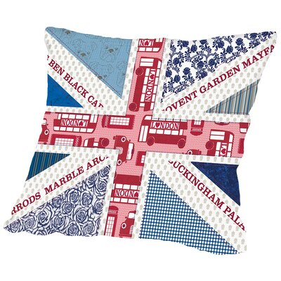 Uk Flag Throw Pillow Size: 14 H x 14 W x 2 D