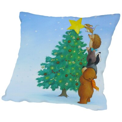 Christmas Tree Star Throw Pillow Size: 18 H x 18 W x 2 D