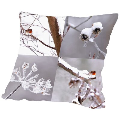 Snow Fall Throw Pillow Size: 16
