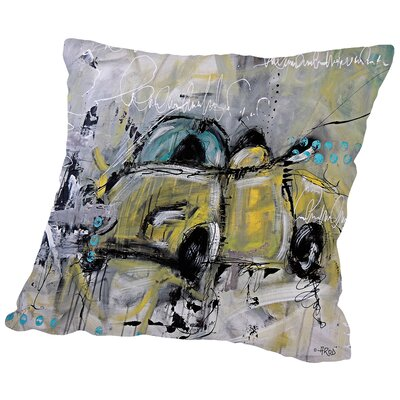 Car Throw Pillow Size: 14 H x 14 W x 2 D