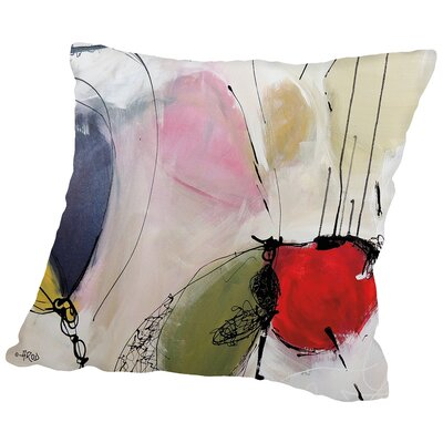 Crazy Buzz Throw Pillow Size: 16 H x 16 W x 2 D