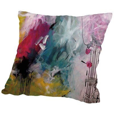 Crazy Fin Throw Pillow Size: 14 H x 14 W x 2 D