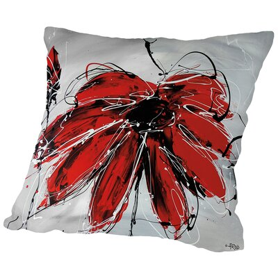 Fleur De Coeur Throw Pillow Size: 18 H x 18 W x 2 D