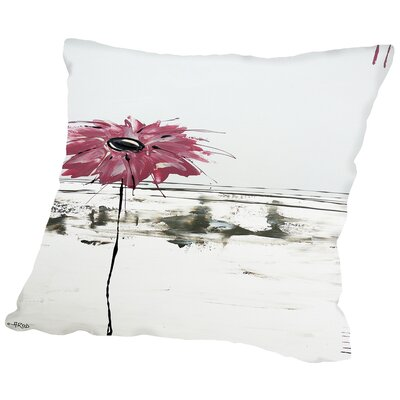 Fleur Rose 1 Throw Pillow Size: 16 H x 16 W x 2 D