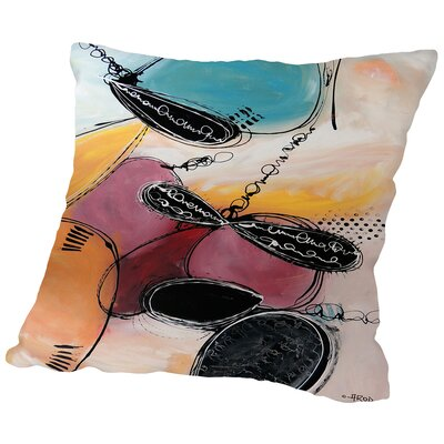Motus Abracadabra Throw Pillow Size: 18 H x 18 W x 2 D