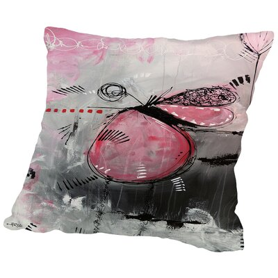 Motus Aux Fraises Throw Pillow Size: 18 H x 18 W x 2 D