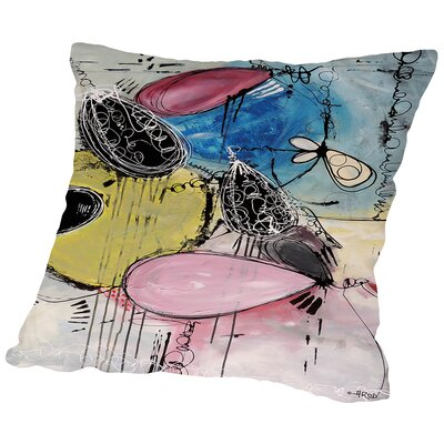 Motus Du Bubble Gomme Throw Pillow Size: 18 H x 18 W x 2 D